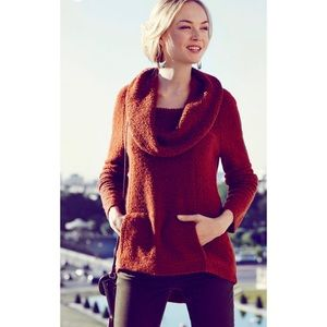 Anthropologie Angel of the North Boucle Sweater